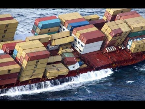 Container Ship Sailing on Indian Ocean