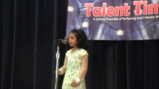 Talent Time 2012 - English Poetry recitation - Tessa Joseph