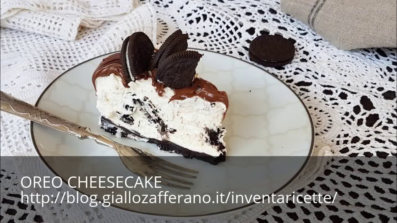 Ricetta Cheesecake Oreo Giallo Zafferano.Oreo Cheesecake Ricetta Torta Fredda Senza Colla Di Pesce