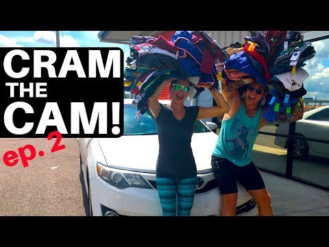 CRAM the CAM 🚗 ep. 2 | HUGE THRIFT HAUL | Tommy Hilfiger 🔥 | Thrifting Road Trip | RALLI ROOTS