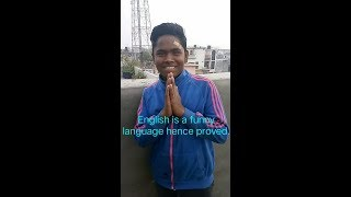 English is a funny language this man proved it funny comedy YouTube video