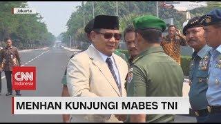 Panglima TNI & Jajaran Kepala Staf Sambut Menhan Prabowo di Mabes TNI