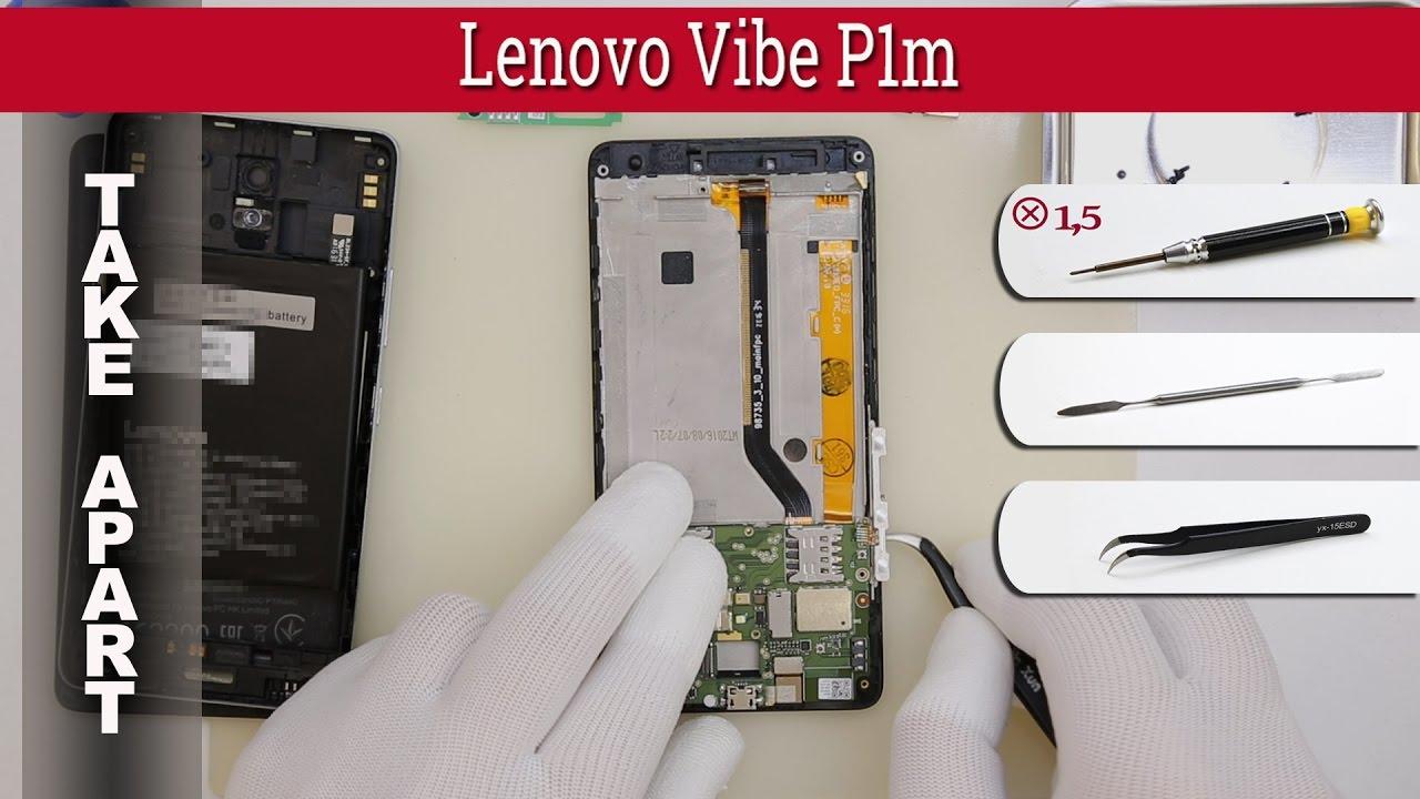 How to disassemble 📱 Lenovo Vibe P1m Take apart (P1ma40)
