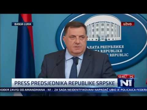 Милорад Додик о протестима дрвопрерађивача у Сокоцу (21.4.2017.)