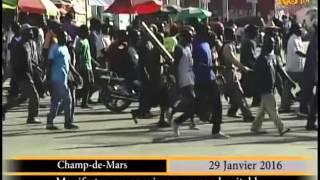 Haïti.- Manifestation de l'opposition / 29 janvier 2016