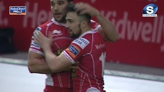 Brilliant Jordan Williams Try - Scarlets v Newport Gwent Dragons 2nd May 2014