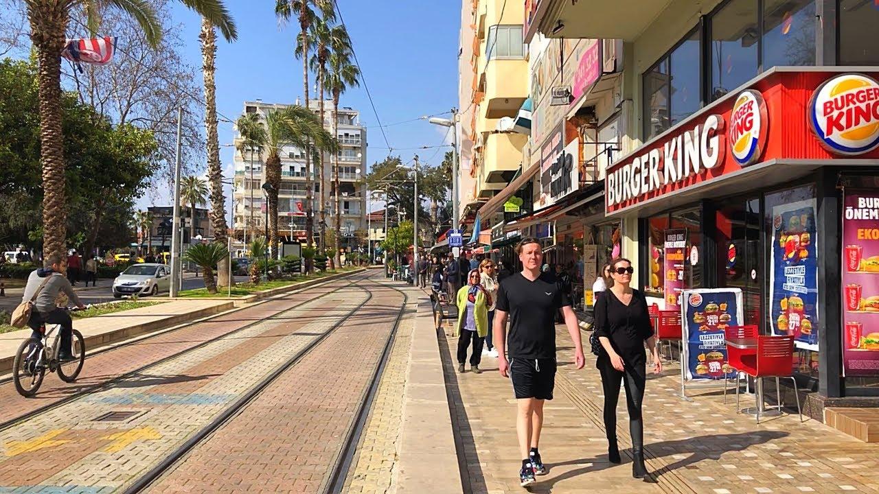 Walk in Antalya City Center - YouTube