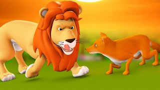Sher Aur Lomdi 3D Animated Hindi Stories for Kids - Moral Stories शेर और लोमड़ी हिन्दी कहानी Tales