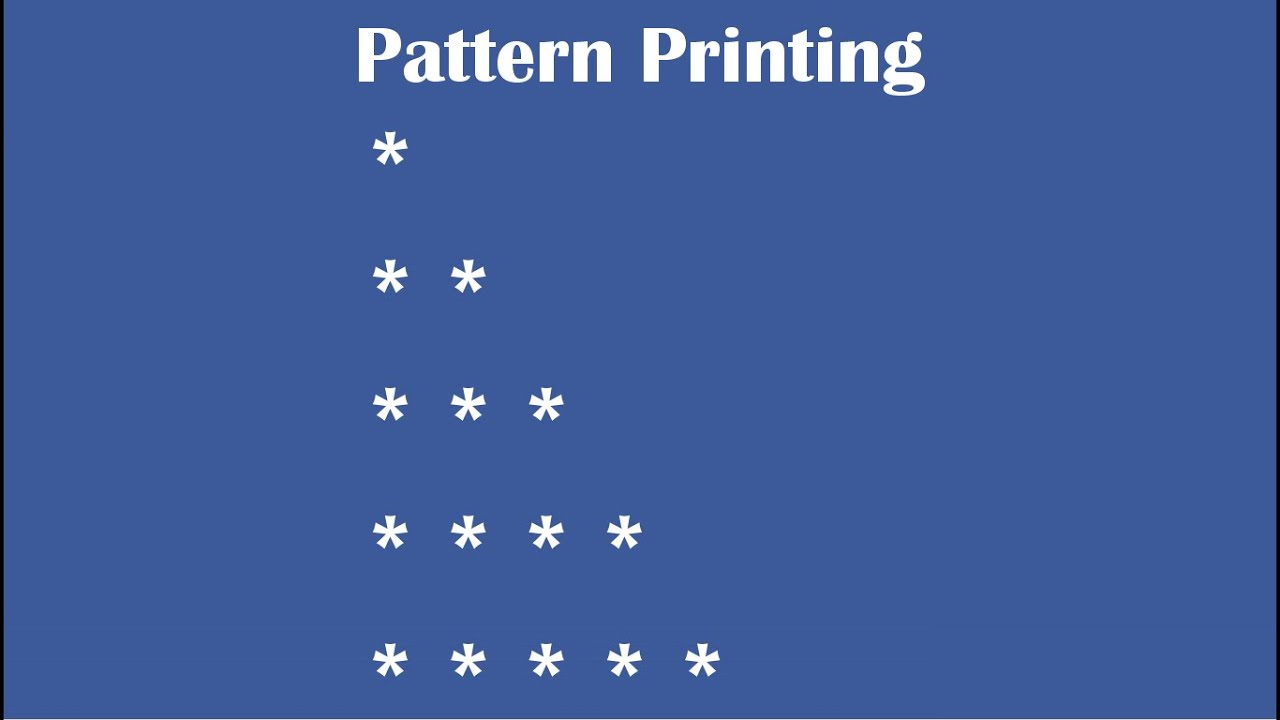 C Practical and Assignment Programs-Pattern Printing 1