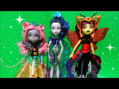 Monster High Boo York Dolls Luna Mothews Elle Eedee Mouscedes King Deboxing Toy Review