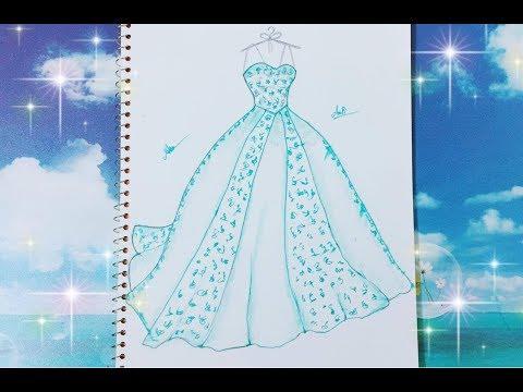 Download Draw Wedding Dress 3 for girl - Vẽ Váy cưới 3 - An Pi TV ...
