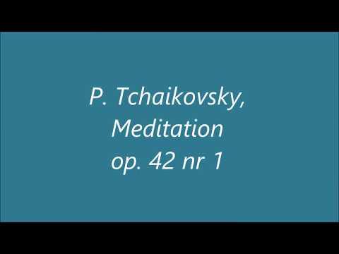 P.Tchaikovsky, Meditation op. 42 nr 1 || Gębska/Lichomanow