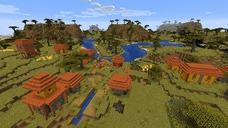 Nowa WIOSKA Na Sawannie w Minecraft 1.14!