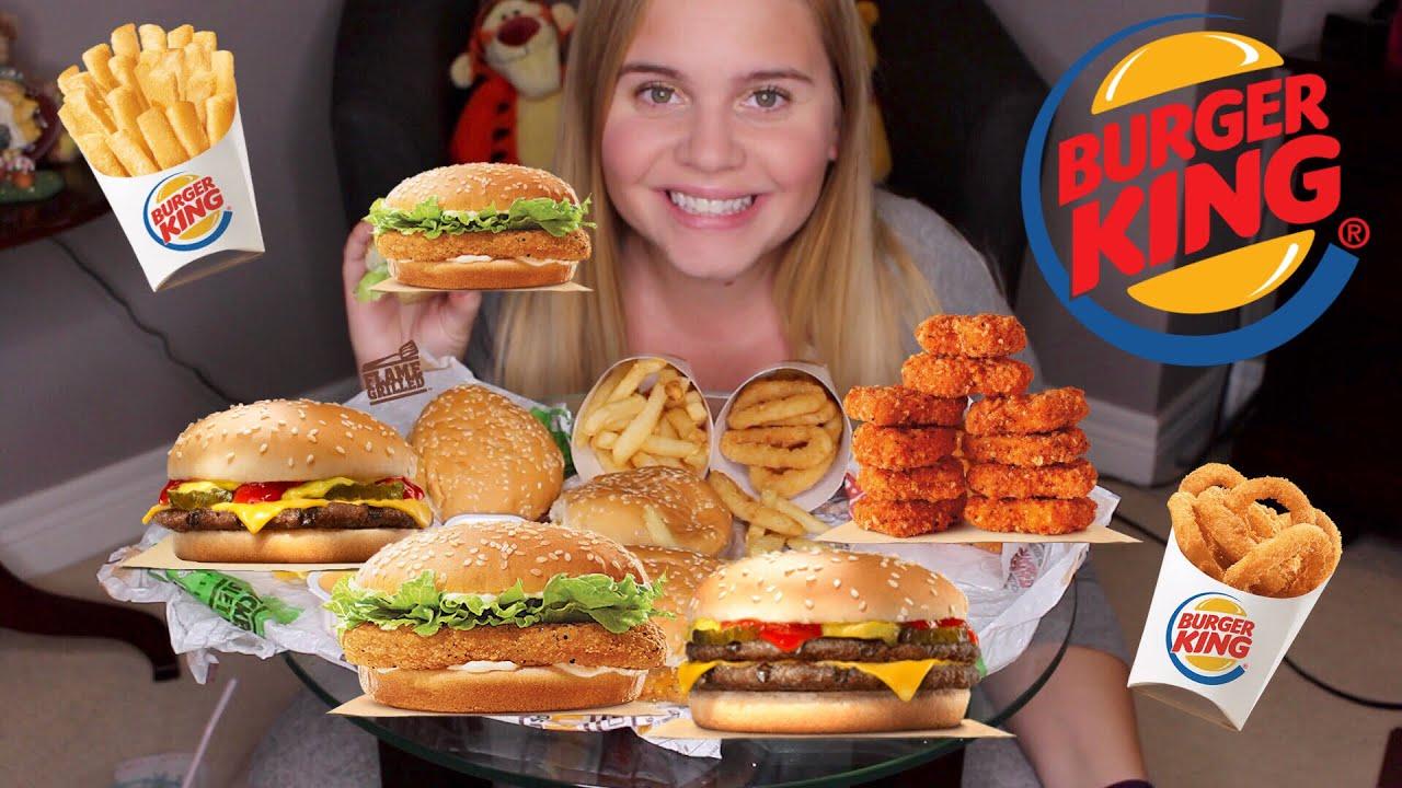 Massive 3000 Calorie Burger King Mukbang Eating Everything Off Value Menu