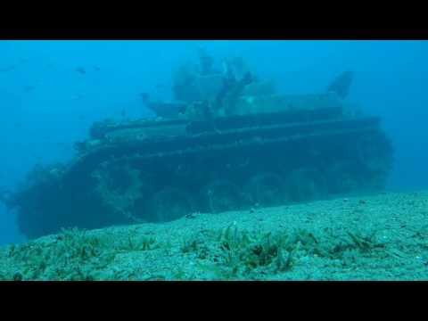 Jordanien Akaba Schnorcheln Panzer Tala Bay / Jordan Aqaba Snorkeling Tank 5 M Deep