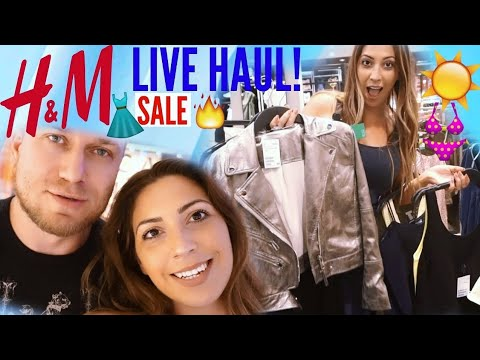 H&M FASHION LIVE HAUL | SHOPPING SOMMER 2017