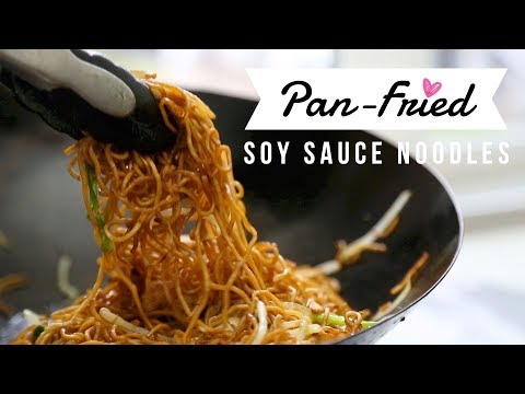 Pan-Fried Soy Sauce Noodles ♥ Thanksgiving Leftover Turkey Recipe