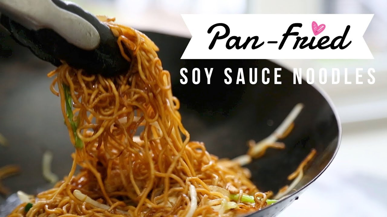 Pan Fried Soy Sauce Noodles Thanksgiving Leftover Turkey Recipe Youtube