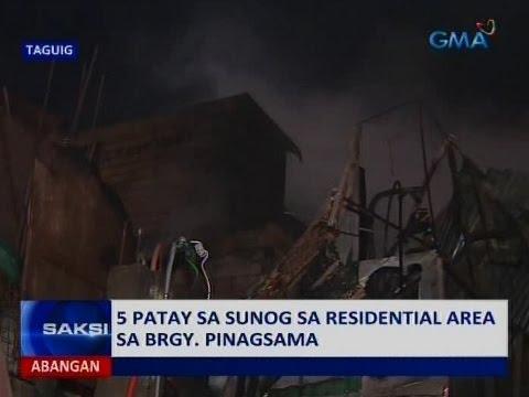 Saksi: 5 patay sa sunog sa Brgy. Pinagsama, Taguig
