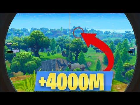 "FORTNITE WORLD RECORD ""+4000M"" NO SCOPE SNIPER! Battle Royale MEJORES MOMENTOS - Alphasniper97"