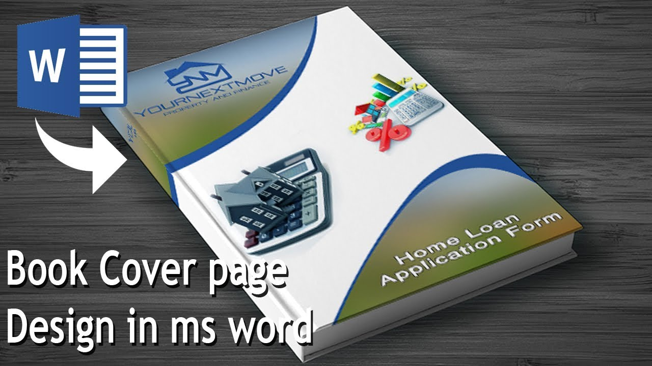 how to make book cover page design in ms word
