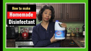 How to Make Homemade Disinfectant According to CDC Guidelines