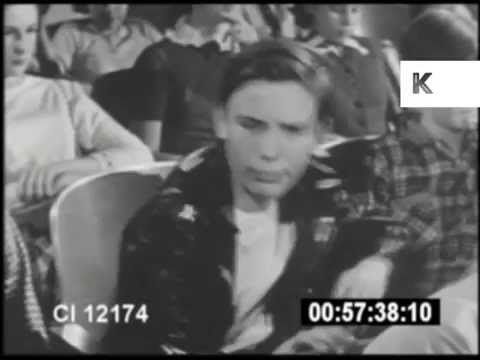 1950s Juvenile Delinquent Argues With Police Officer