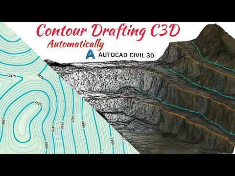 Contour Line Drawing In Autocad : Create contour lines from google earth on autocad with tcx