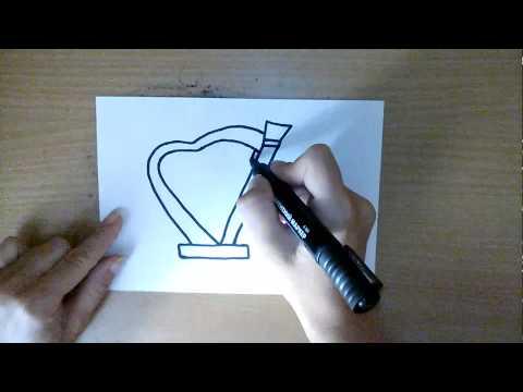 Как нарисовать гусли карандашом поэтапно