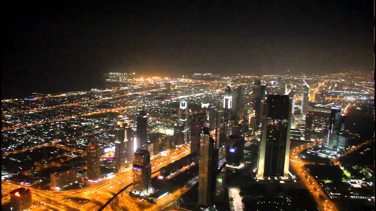 BURJ KHALIFA DUBAI AT THE TOP NIGHT