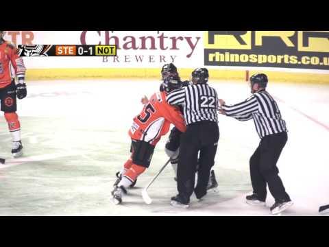 Robert Dowd vs  Mike Berube EIHL fight 26-12-14
