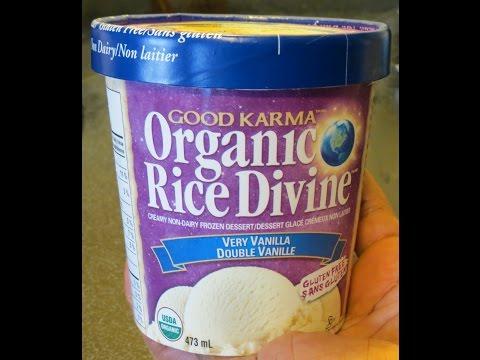 """Good Karma Organic Rice Divine """"Very Vanilla"""" Ice Cream (non-dairy, gluten-free)"""