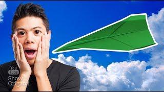 Простой СУПЕР САМОЛЕТ из бумаги - долго и далеко летит / Как сложить оригами самолет
