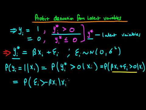 Probit model as a result of a latent variable model
