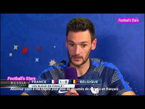 France vs Belgique 1-0 Les reaction de Pogba, Lloris et Courtois