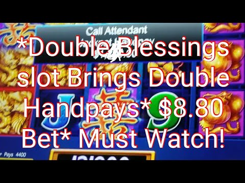 *2 Jackpot Handpays On Double Blessings slot machine* *$8.80 Max Bet* *1st Ever On YouTube* 🤑😱