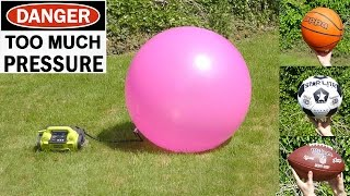 EXPLODING - Football, Basketball,  Soccer ball, Yoga ball & Space hopper