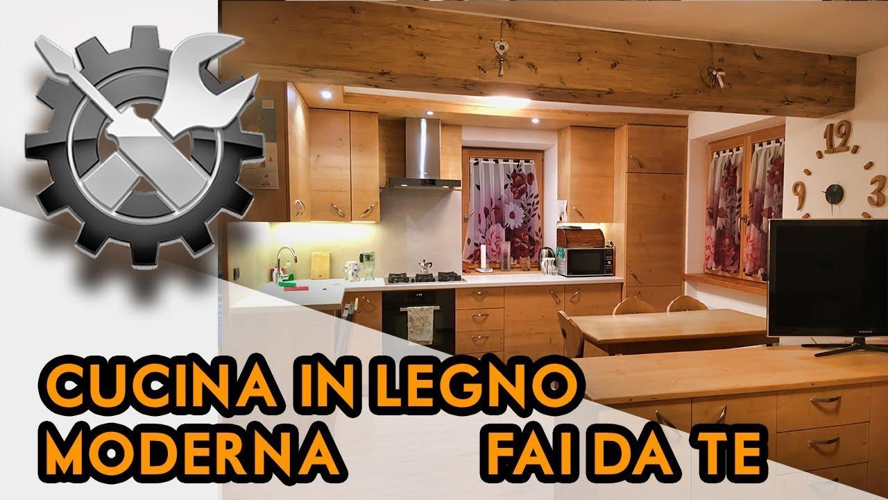 Ante Cucina Fai Da Te.Cucina Fai Da Te In Legno Abete Moderna E Fantastica Youtube