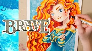 Speed Drawing MERIDA from Brave