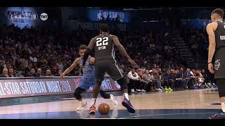 Trae Young Nutmegs Josh Okogie And Deandre Ayton In 2019 Rising Stars Challenge