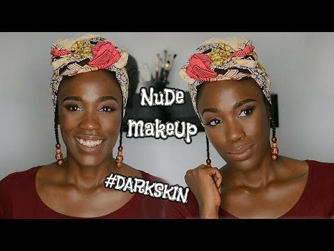 Soft Natural Nude Makeup Tutorial for Dark Skin