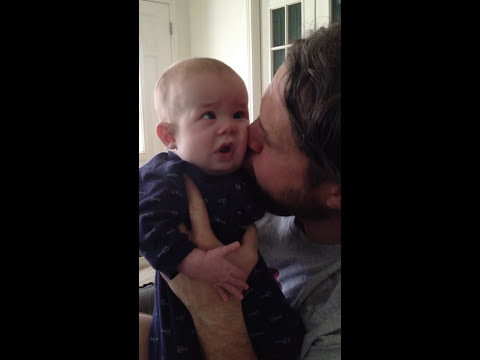How does this dad calm his deaf-blind child?