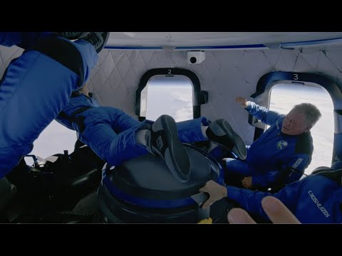 'Oh wow!!' 'Captain Kirk' in space in this awesome Blue Origin footage