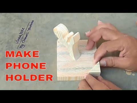 DIY Wood Phone Stand
