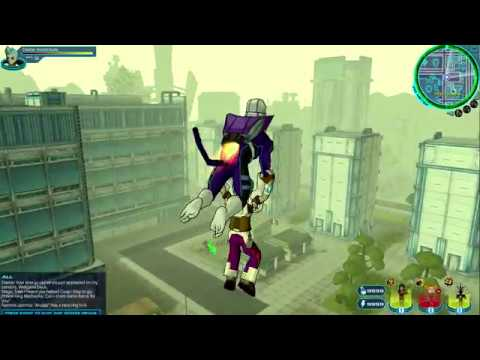 FusionFall (Original, 2013/8) : Heading to Tech Square and Walkaround (First Attempt)