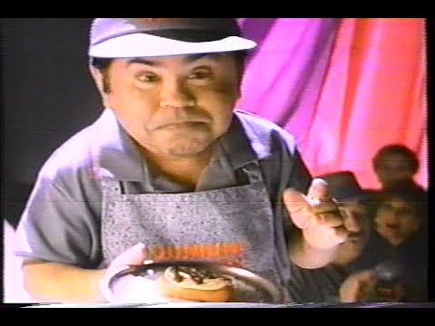 Dunkin Donuts  Designer Mini Eclairs Herve Villechaize 1993