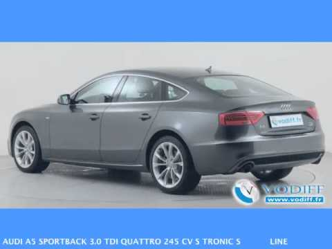 vodiff audi occasion alsace audi a5 sportback 3 0 tdi quattro 245 cv s tronic s line youtube. Black Bedroom Furniture Sets. Home Design Ideas