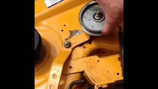 cub cadet belt coming off when shifting levels
