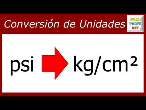 CONVERSIÓN DE UNIDADES DE PRESIÓN: de Psi a kg/cm²