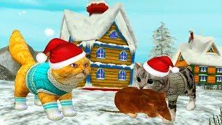 Симулятор котенка снеговик  потив кота ЗИМНЯЯ ЛОКАЦИЯ мультик для детей #УШАСТИК KIDS